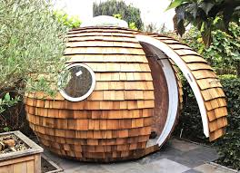 garden pod office. The Shingled Spherical Podzook Is An Eco-friendly Pod That Fits In Your Backyard Garden Office S