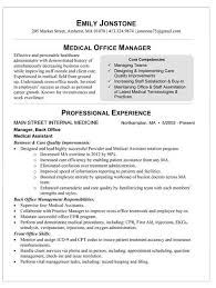 Brilliant Recent Format Medical Office Manager Job Description For Resume  Look Professional 6 Office Manager Job