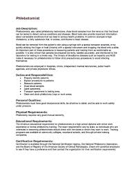 Phlebotomy Skills For Resume Best Of Entry Level Phlebotomy Resume
