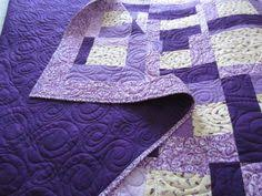 2 purple quilts | Quilts, mostly modern. | Pinterest | Purple ... & Crafty Sewing & Quilting: The Easy to Sew Quilt Pattern Used to Make Twin  Quilts Adamdwight.com