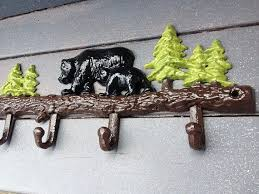 Bear Coat Rack Beauteous Cast Iron Bear Rack Rustic Hanging Rack Bear Hooks Black Bears