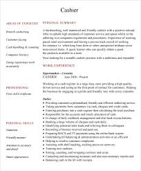 Cashier Resume Examples Mesmerizing 60 Sample Cashier Resumes Sample Templates