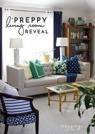 preppy living room reveal the homes i