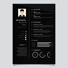 Corporate Resume Template Vector Download Free Vector Art Stock