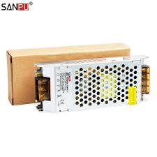 sanpu power supply 12 volt 5amp 60 watt led driver 12vdc ac dc lighting transformer 12v smps aluminum case for indoor leds strip in switching power supply