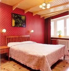 decoration, Wonderful Design Of Vintage Room Ideas With Red Wall Decoration  Also Brown Wooden Ceiling
