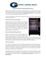 Vending Machine Competitors Extraordinary Tips For Potential Vending Machine Owners