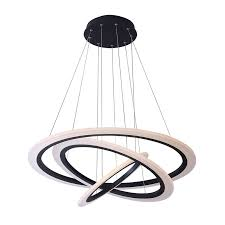 capella tania trio matte black circular led chandelier
