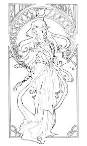 art nouveau coloring for everyone art coloring pages printable coloring art coloring book art coloring for