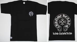 Chromic Hertz Chrome Hearts Men Short Sleeves T Shirt Medium Size Black Black