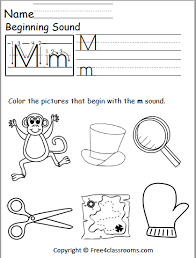 This freebie includes 4 phonics worksheets from my mega phonics bundle. Free Beginning Sounds Worksheet Letter M Free4classrooms