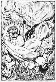 Hulk Vs Sasquatch By John Byrne