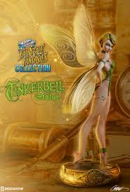 j scott cbell s fairytale fantasy line started with the little mermaid statue and continues with the addition of tinkerbell this pixie from neverland