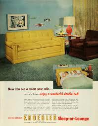 Kroehler Bedroom Furniture Adspastcom 1950s Kroehler Sofa Tv Rotor Chairs Ad Mid
