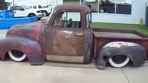 1954 Chevrolet Rat Rod pick up truck air bags Chevy bagged - YouTube
