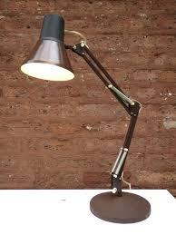 luxo desk lamp vintage chocolate brown adjule swing arm drafting with base lamps