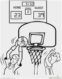 Basketball Hoop Coloring Page Pretty Kindergarten Sports Coloring