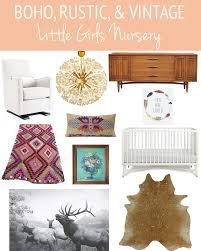 boho rustic and vintage little girls nursery
