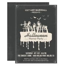 halloween invitations cards creepy halloween horror party invitation halloween