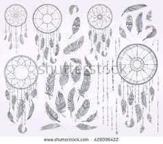 Dream Catcher Outline Outline Aztec Ornament Pattern Download Free Vector Art Stock 83