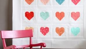Making Heart Blocks in Multiple Sizes | Cluck Cluck Sew & Simple Heart Quilt Adamdwight.com