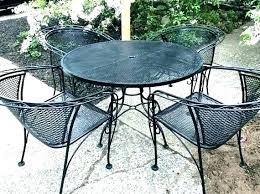 iron patio table and chairs oval wrought 36 inch round cover dining set nice