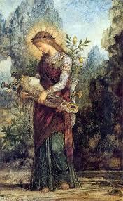 Niña tracia con la cabeza de Orfeo en su lira – Gustave Moreau ❤️ - Es:  Moreau gustave