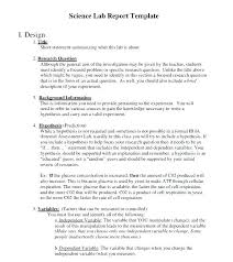 Science Report Writing Template Format Free Resume Samples
