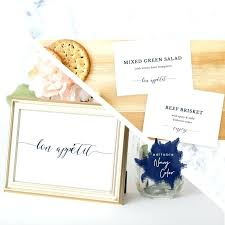 Table Labels Template Image 0 Buffet Labels Template Table Food Navy Label