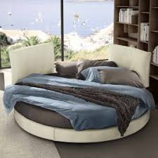 Modern design round double bed Rond Gliss made in Italy