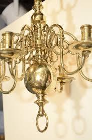 a six light dutch brass antique chandelier