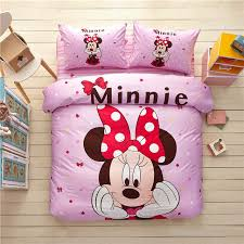 US $70.99 29% OFF pink girl minnie mouse comforter bedding set single twin full queen king size 3/4/5pc sweet disney 3d bed linens cotton kid gift-in ...