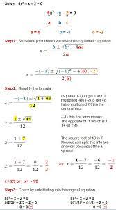 quadratic formula quadratics