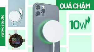 Đánh giá sạc không dây MagSafe cho iPhone 12: sạc chậm mà đắt - YouTube