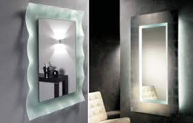 Illuminated wall mirrors for bathroom Interior Wall Lighted Bathroom Mirror Yoderautoco Wall Lighted Bathroom Mirror Elegant Home Design Essential