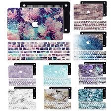 <b>Marble Prints</b> Keyboard Cover + <b>Hard Shell</b> Case for Apple ...