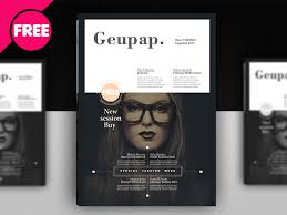 Magazine Template Psd Free Fashion Magazine Cover Template Psd By Free Download