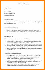 Skill Based Resume Examples Resume And Cover Letter Resume And