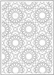 Small Picture Printable Mosaic Patterns Coloring Pages for Kids and for Adults