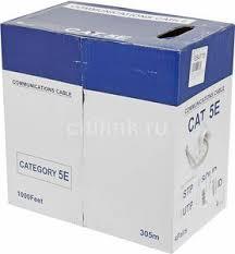 <b>Кабель</b> Lanmaster NewMax 305м <b>UTP 4 pairs</b> Cat 5e 24 AWG PVC ...