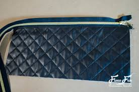 Quilted Leather Clutch Tutorial | AllFreeSewing.com & Quilted Leather Clutch Tutorial Adamdwight.com