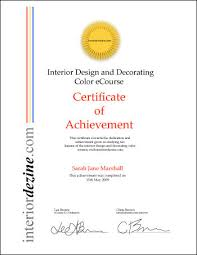 certificate of interior design. Interesting Certificate Certificate Of Interior Design Interior Design And Decorating Color  Certificate Information Magazine For T