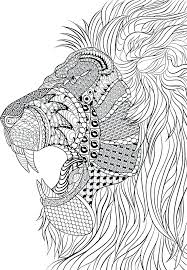 Animal Mandala Coloring Pages Printable Lion Farm Animals Adult Book