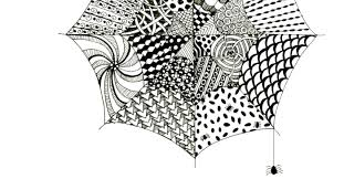 Easy Zentangle Patterns Adorable Easy Zentangle For Kids And Adults With Spiderwebs