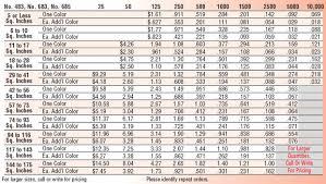 Vinyl Decal Pricing Chart 28 Vinyl Decal Price Calculator Cricut