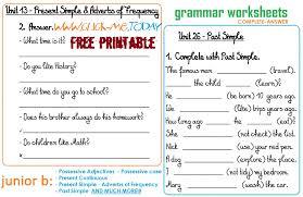 Printable Grammar Worksheets Free Worksheets Library | Download ...