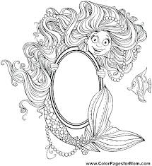 Anime Mermaid Coloring Pages Little Mermaid Coloring Pages Printable