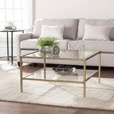Harper Blvd Kolder Square Metal/Glass Open Shelf Cocktail Table   Gold