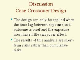 Case Crossover Design The Case Crossover Design Was Introduced In 1991 By Maclure