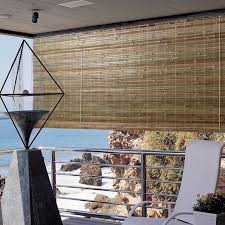 shades brown rectangle traditional roll up bamboo shades outdoor stained design remarkable roll up